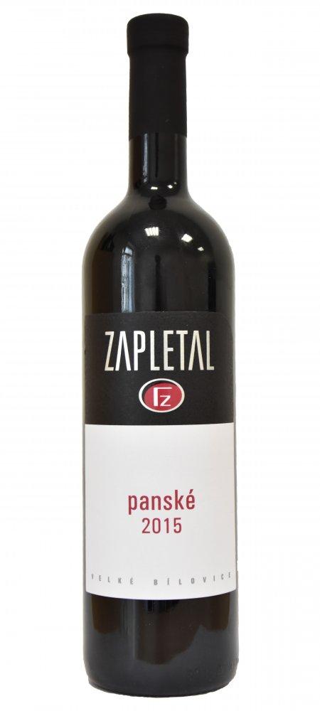 Zapletal Panské Jakostní známkové víno 2016 0,75l 13,9%