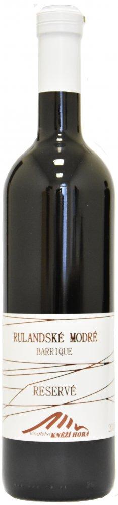 Vinařství Kněží hora Rulandské modré Barrique Výběr z hroznů 2015 0,75l 13%