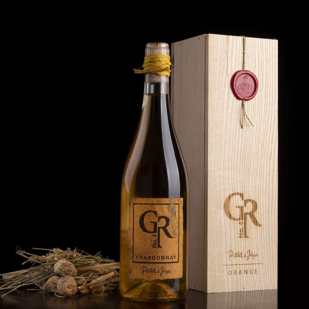 Piálek & Jäger Chardonnay Grand reserva No.4 ORANGE Pozdní sběr 2015 0,75l 13% Dřevěný box