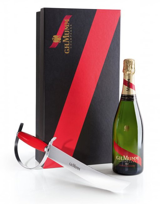 Mumm Cordon Rouge – sabrage set 0,75l 12%