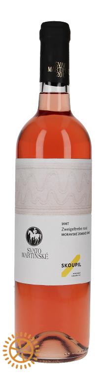 Skoupil SVATOMARTINSKÉ Zweigeltrebe Rosé Moravské zemské víno 2019 0,75l 12%
