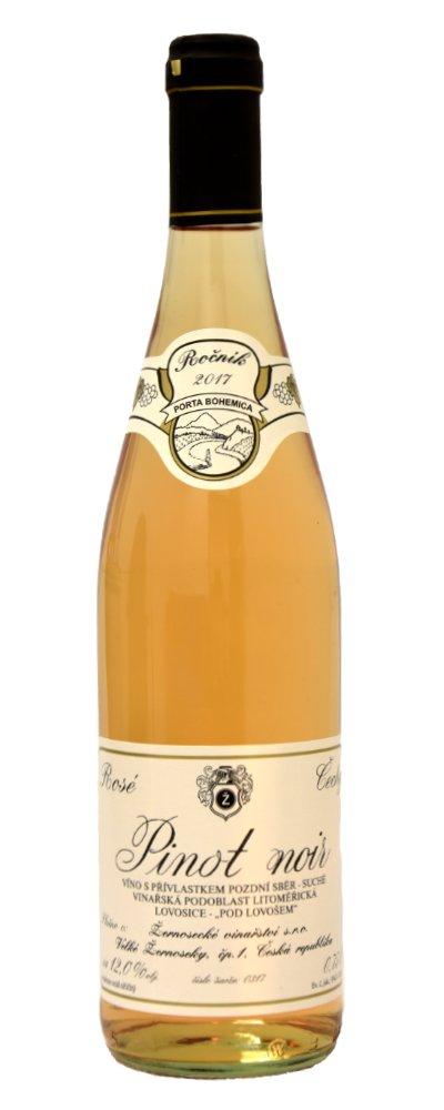 Žernoseky Pinot Noir rosé Pozdní sběr 2017 0,75l 12%