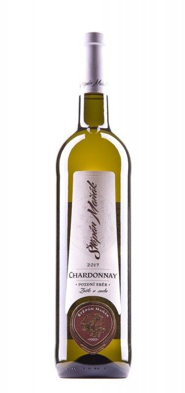 Štěpán Maňák Chardonnay Pozdní sběr 2017 0,75l 13%