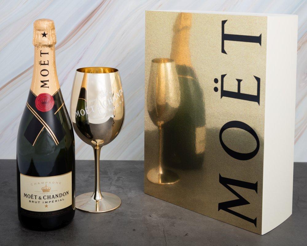 Moët & Chandon Impérial Brut 0,75l 12,5% + Zlatá sklenice