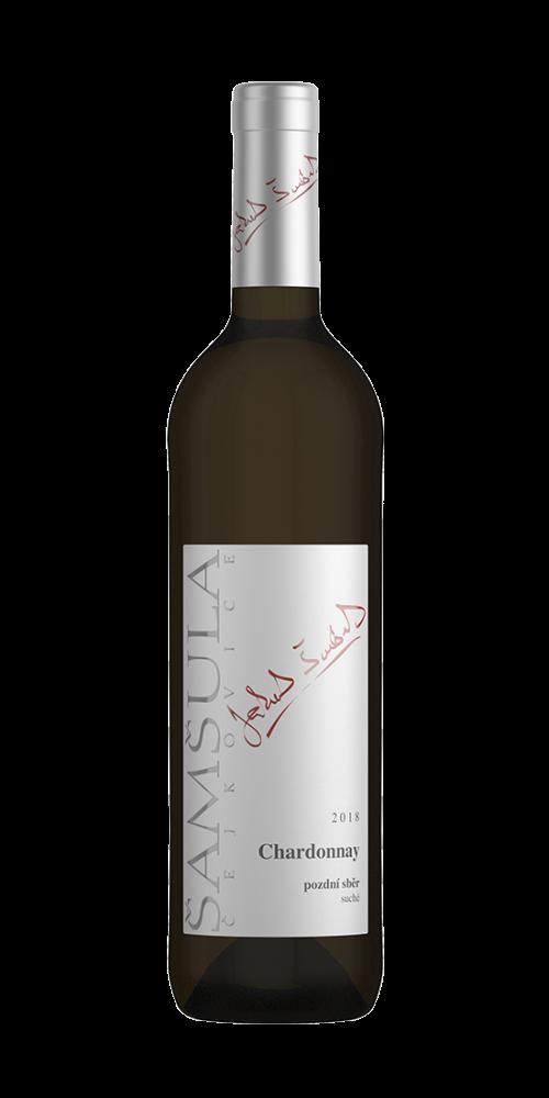 Šamšula Chardonnay TRADITIONNEL Pozdní sběr 2018 0,75l 13%