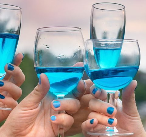 Modré víno: víno plné ovocných tónů